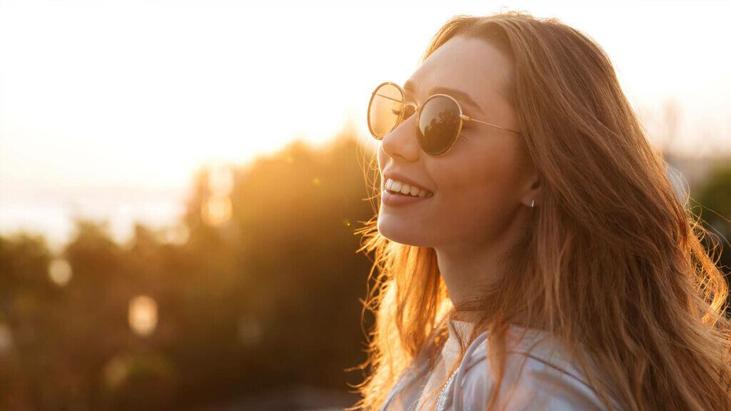 Sonnenbrille gegen Lichtempfindlichkeit der Augen