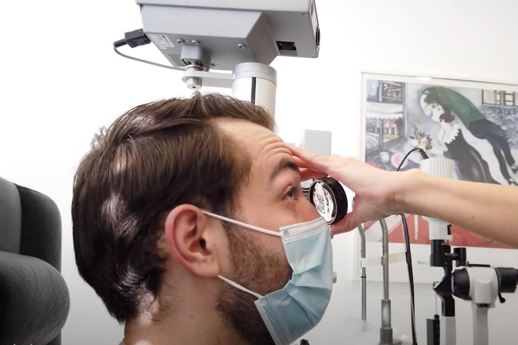Voruntersuchung - Augen laser OP bei Nico Auer